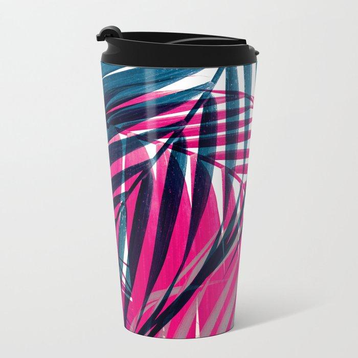 Trichromy Palms Metal Travel Mug