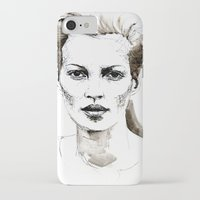 kate moss iPhone & iPod Cases featuring Kate Moss by Anastasia Efthias