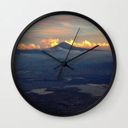 Popo at Dusk Wall Clock