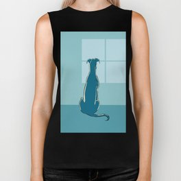 Waiting Greyhound Biker Tank