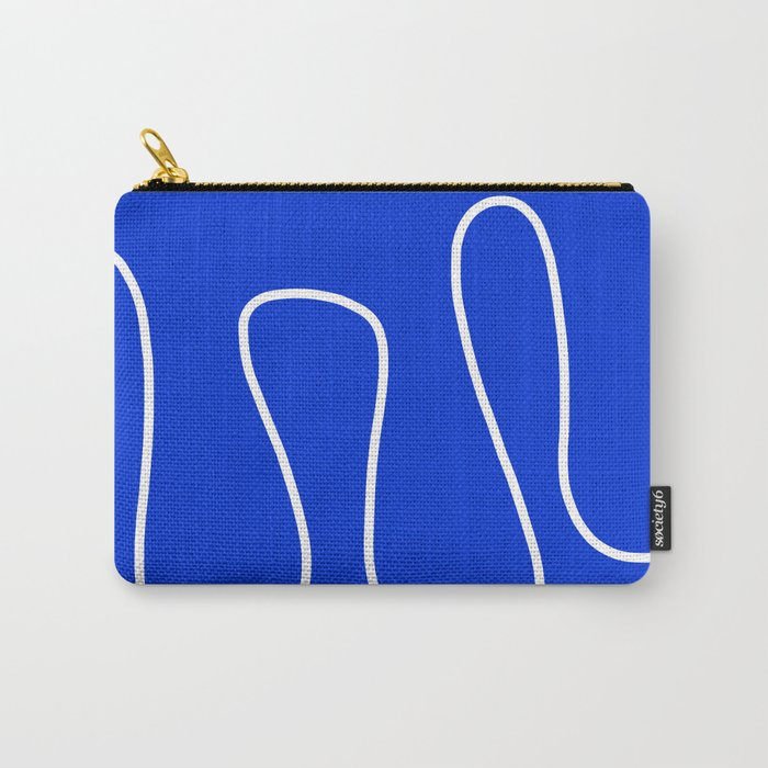 Blue Abstract Wave Carry-All Pouch