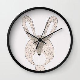 Rabbit Cute Woodland Animals Nursery Wall Clock