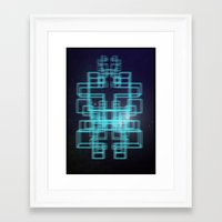 80s Framed Art Prints featuring 80s style by Six Pixel Design