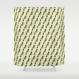 Helmeted Honeyeater | Pattern Shower Curtain