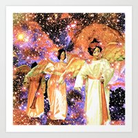angels Art Prints featuring Angels by Saundra Myles