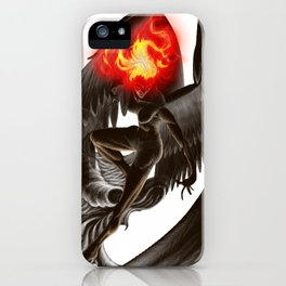 Lumania Bound Conflagration, The Amber Angel iPhone Case