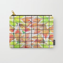 abstract floral background Carry-All Pouch