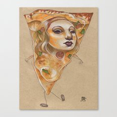 PIZZA LADY Canvas Print