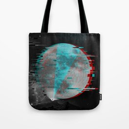 Glitch Galaxy Tote Bag