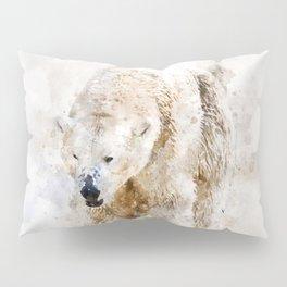 Abstract watercolor polar bear Pillow Sham
