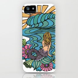 Seated Curvy Tail Mermaid iPhone Case