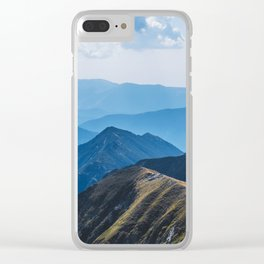 flying around in the mountains Clear iPhone Case