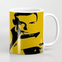 james bond Mugs featuring 007 James Bond by Walter Eckland