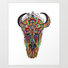 Body of Bison-Spirit of Dragon  Art Print