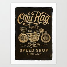 Oily Rag Motor Co Art Print