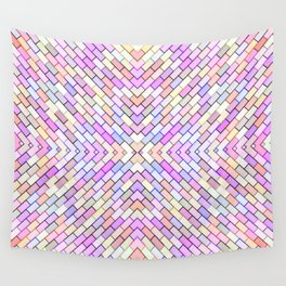 pastel brick pattern Wall Tapestry