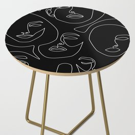Faces in Dark Side Table
