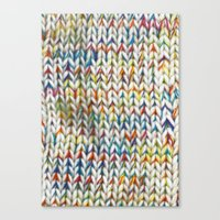 knit Canvas Prints featuring Knit Pattern  by Manuela Mishkova