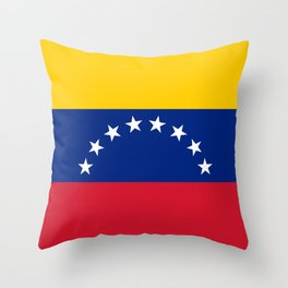 National flag of  Venezuela - Authentic version Throw Pillow