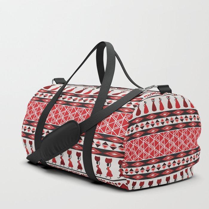 African Tribal Pattern No. 85 Duffle Bag