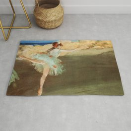The Star Dancer On Pointe By Edgar Degas | Reproduction | Famous French Painter Rug