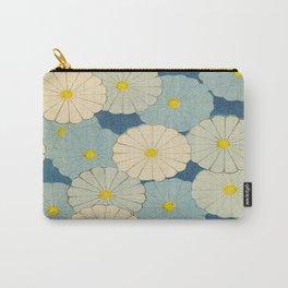 Shin-Bijutsukai – Japanese Design Blue Floral Pattern Carry-All Pouch