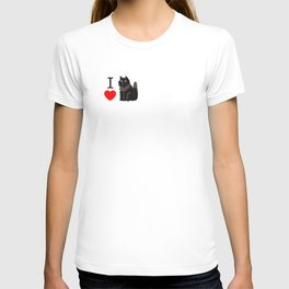 I love Cats _ black T-shirt