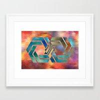infinite Framed Art Prints featuring Infinite by Blank & Vøid