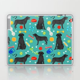 Black Lab dog toys cute dog breeds black labrador retriever gifts pet friendly Laptop & iPad Skin