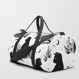 Night Garden Cat Duffle Bag