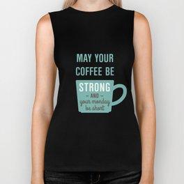 Coffee Strong Monday Short Biker Tank