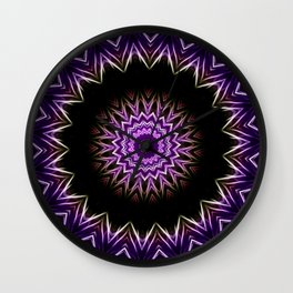 Cirsium II Kaleidoscope Wall Clock