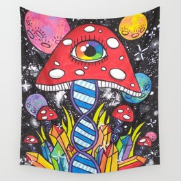 Psychedelic DNA Wall Tapestry
