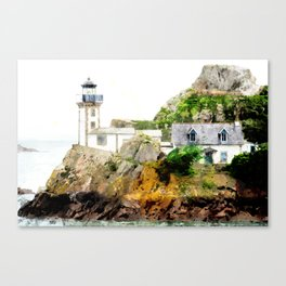 Modified - The lighthouse of Louet - France Canvas Print