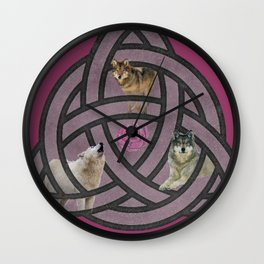 She Wolf Pack Wall Clock