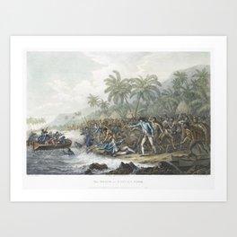 The death of Captain Cook (1785) by John WebberFrancesco Bartolozzi and William Byrne Art Print