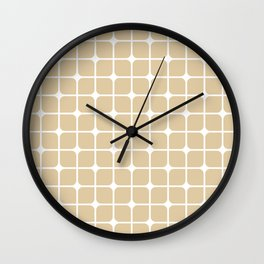 Modern Cubes - Gold + Teal Wall Clock