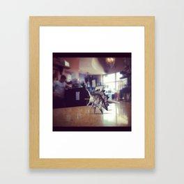 Posing Dino Framed Art Print