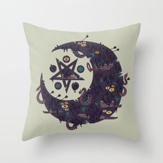 The Dark Moon Compels You to Fuck Shit Up Throw Pillow