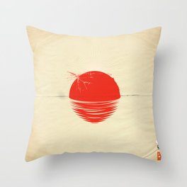 "Japan relief poster/all proceeds will go to ""Peace Winds"" Throw Pillow"