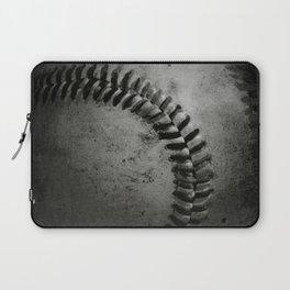 Black and white Baseball Laptop Sleeve