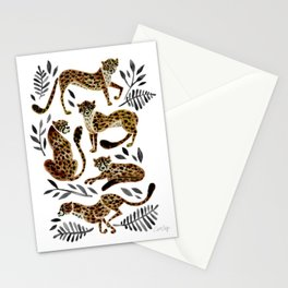 Cheetah Collection – Mocha & Black Palette Stationery Cards