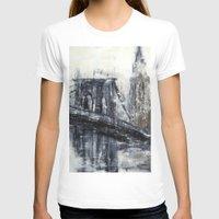 brooklyn bridge T-shirts featuring Brooklyn Bridge  by Kasia Pawlak