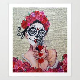 KissMeDeadlyGirl#2 Art Print