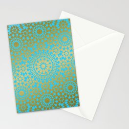 Moroccan Nights - Gold Teal Mandala Pattern 1 - Mix & Match with Simplicity of Life Stationery Cards