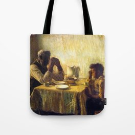 African American Masterpiece 'The Thankful Poor' by Henry Ossawa Tanner Tote Bag