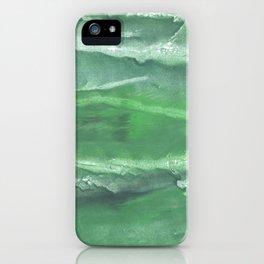 Dark sea green watercolor iPhone Case