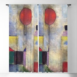 Paul Klee Red Balloon 1922 Artwork for Tshirts Posters Prints Men Women and Kids Blackout Curtain