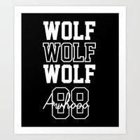 exo Art Prints featuring EXO  Wolf by Sara Eshak