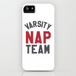 Varsity Nap Team iPhone Case